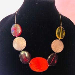 Vintage multicolored plastic/mother of pearls